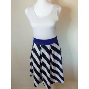 Blue S White and Navy Striped Dress SZ M